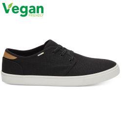 Toms Mens Carlo Classic Vegan Canvas Plimsoll Dap Shoes - Black Heritage