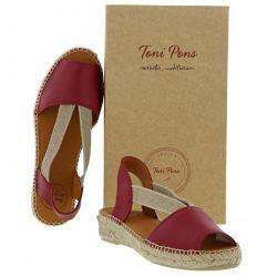 Toni Pons Womens Etna Leather Slingback Espadrille Sandals - Vermell