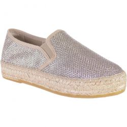 Toni Pons Womens Fonda-S Slip On Platform Espadrille Shoes - Plom Silver