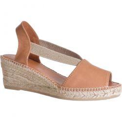 Toni Pons Womens Teide P Wedge Espadrille Sandals - Cuiro Tan