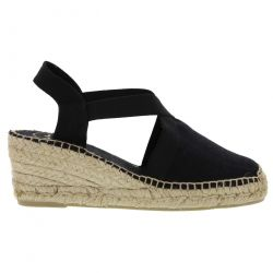 Toni Pons Womens Wedge Slingback Espadrille Shoes - Black