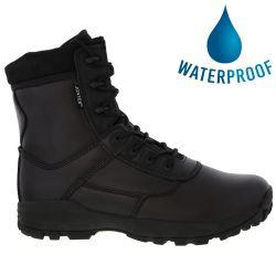 Grafters Mens Ambush Waterproof Combat Cadet Military Boots - Black