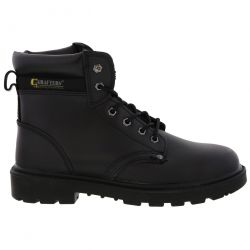 Grafters Mens Apprentice Safety Toe Cap Work Boots - Black