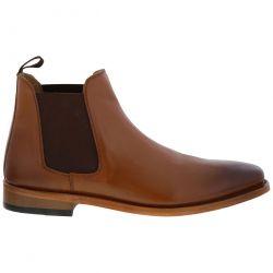 Kensington Mens Leather Chelsea Boots - Tan