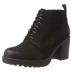 Vagabond Womens Grace Lace Up Leather Ankle Boots - Black - 4428-450