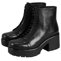 Vagabond Womens Dioon Leather Chunky Platform Ankle Boots - Black - 4847-101