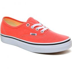 Vans Authentic Womens Canvas Trainers - Strawberry Pink True White