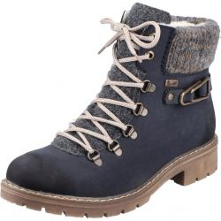 Rieker Womens Y9131 Water Resistant Ankle Boots - Blue Pazifik