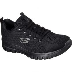Skechers Womens Graceful Get Connected Wide Fit Trainers - Black Black