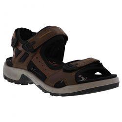 Ecco Shoes Mens Offroad Leather Walking Sandals - Espresso Cocoa Brown Black