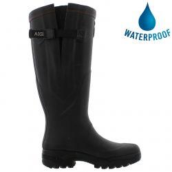 Aigle Parcours 2 Vario Adjustable Mens Womens Wellies Rain Boots - Noir