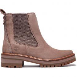 Timberland Womens Courmayeur Valley Chelsea Boots - Taupe - A1RRK