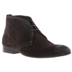 Base London Mens Trader Chukka Boots - Suede Brown