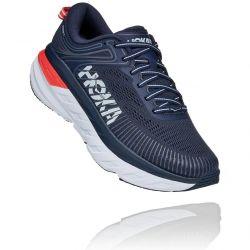 Hoka One One Womens Bondi 7 Road Running Shoes - Black Iris Ballad Blue