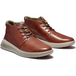 Timberland Mens Bradstreet Ultra Chukka Leather Ankle Boots - Soil Brown - A2HEZ