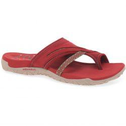 Merrell Womens Terran Post Toe Post Walking Sandals - Red