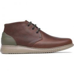 On Foot Mens Safari Leather Desert Boots - Libano