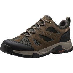 Helly Hansen Mens Switchback Trail Low Waterproof Shoes - Walnut Espresso Black