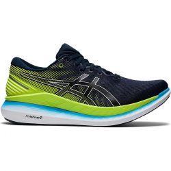 Asics Mens GlideRide 2 Running Shoes - French Blue Hazard Green