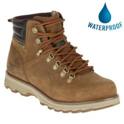 Caterpillar Mens Cat Sire Waterproof Wide Fit Ankle Boots - Brown Sugar