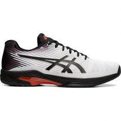 Asics Mens Solution Speed FF Wide Tennis Shoes - White Black