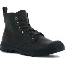 Palladium Mens Pampa Zip Lth ESS Boots - Dark Brown