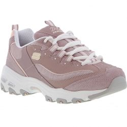 Skechers Womens D'Lites Charming Chunky Trainers - Lavender