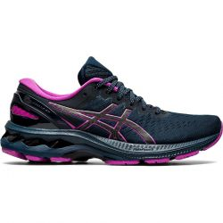 Asics Womens Gel Kayano 27 Lite Show Running Shoes - French Blue Lite Show
