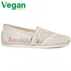 Toms Womens Classic Espadrille Vegan Shoes - Natural Crochet