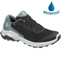 Salomon Womens X Reveal GTX Waterproof Walking Trainer - Black Stormy Weather Ebony