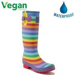 Evercreatures Womens Evergreen Vegan Wellies - Rainbow