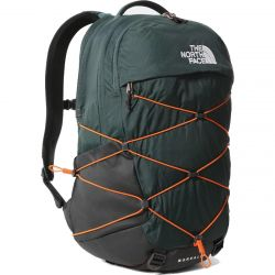 North Face Borealis Backpack Rucksack Laptop Shoulder Bag - Dark Sage Green Red Orange