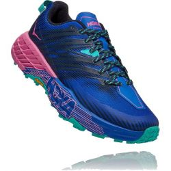 Hoka One One Womens Speedgoat 4 Running Shoes - Dazzling Blue Phlox Pink