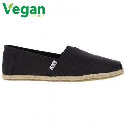 Toms Mens Classic Alpargata Espadrille Shoes - Black Linen