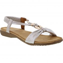 Heavenly Feet Womens Campari Sandals - White Silver