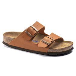 Birkenstock Mens Womens Arizona Soft Footbed BirkoFlor Sandals - Ginger Brown