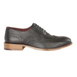 London Brogues Mens Gatsby WIDE Shoes - Black