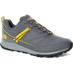 North Face Mens Lightwave Futurelight Waterproof Walking Shoes - Zinc Grey Saffron