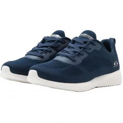 Skechers Womens Bobs Squad Tough Talk WIDE FIT Trainers - Navy