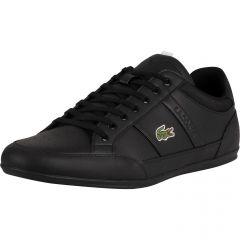 Lacoste Mens Chaymon 0121 Trainers - Black White