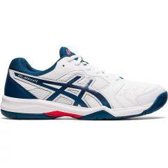 Asics Mens Gel Dedicate 6 All Court Tennis Shoes - White Mako Blue