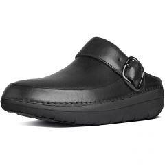 Fitflop Womens Gogh Pro Superlight Leather Clogs Shoes - Black