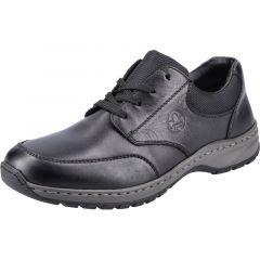 Rieker Mens 03310 Wide Fit Shoes - Black Black