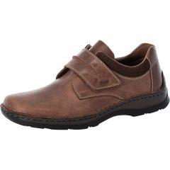Rieker Mens 05358 Wide Fit Shoes - Brown Marron Cigar