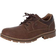 Rieker Mens Wide Fit Water Resistant Shoes - Brown Marron Toffee