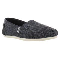 Toms Womens Alpargata Classic Espadrille Shoes - Pewter Lace Glitz