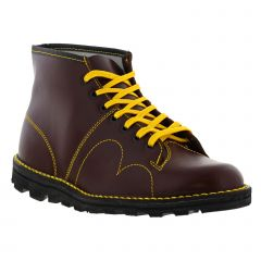 Grafters Mens Womens B430A Monkey Boots - Wine Red