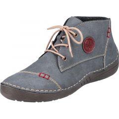 Rieker Womens 52540 Chukka Boots - Blue Jeans Wine
