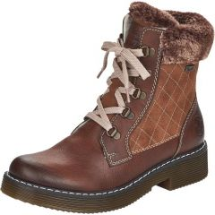 Rieker Womens Warm Winter Water Resistant Ankle Boots - Brown