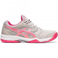Asics Womens Gel Dedicate 6 All Court Tennis Shoes - Oyster Grey Pink Cameo